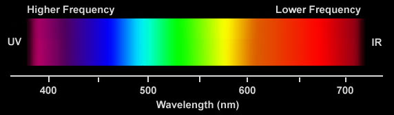 Humans Can See From About 400nm Violet To 750nm Red Below Is Ultraviolet Light Above Infrared