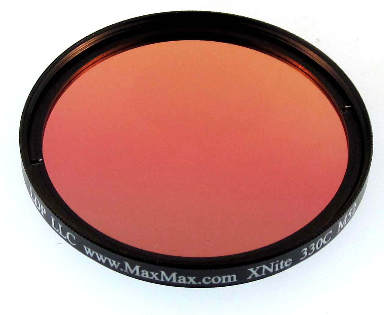 XNite33052C: X-Nite 330nm Coated Filter in 52mm Diameter x 2 2mm Thick